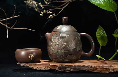 čajový set, konvice na čaj, Zátiší, čajový obřad, uvnitř, džbán, žádní lidé