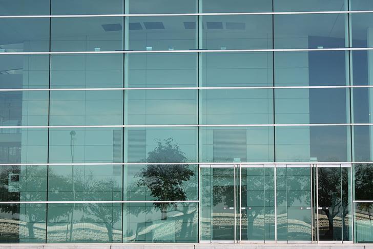 edifici, aparador, arquitectura, vidre, vidre - material, finestra, fotograma complet