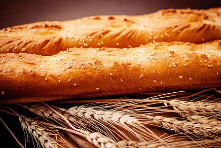 leib, baguette, toidu, toidu ja joogiga, No inimesed, Suurendus:, värskuse