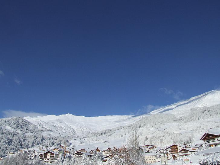 talvel, Tyrol, Serfaus-fiss-ladis, jõulud, lumi