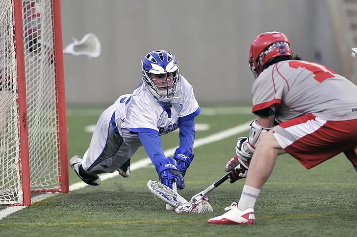 dos, Mens, jugant, Lacrosse als Jocs, força aèria, estat d'Ohio, Estat, joc
