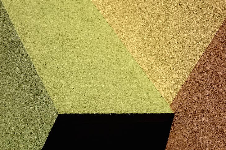 фарба, Анотація, простий, Текстура, грубе, мистецтво, жовтий