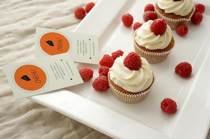 cupcakes, cake, pastry shop, food, dessert, fruit