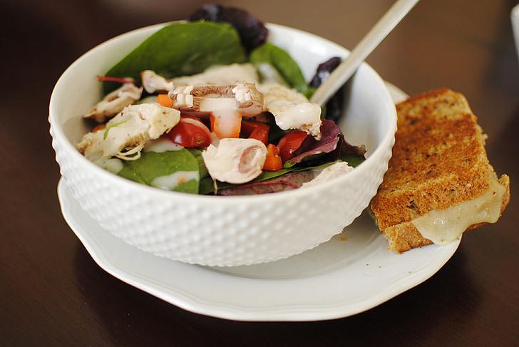 Amanida, sandvitx, aliments, àpat, fresc, dinar, aliments frescos