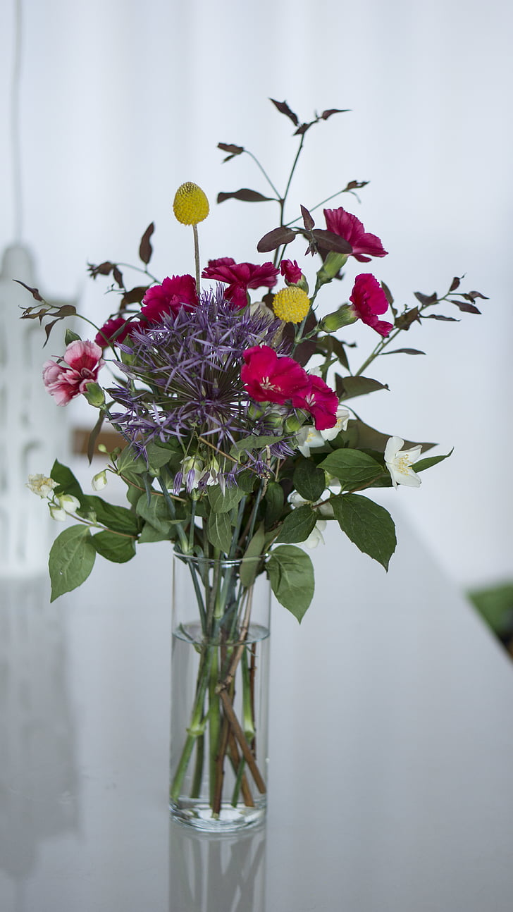 bouquet, flower bouquet, flowers, indoor, indoors, vase