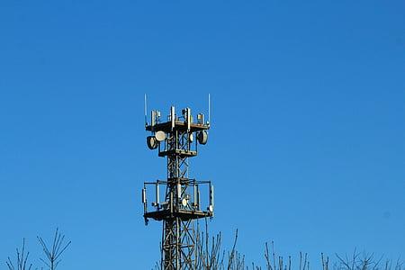 라디오 돛대, 돛대, 통신 돛대, 라디오 릴레이, 모바일, 안테나, 라디오