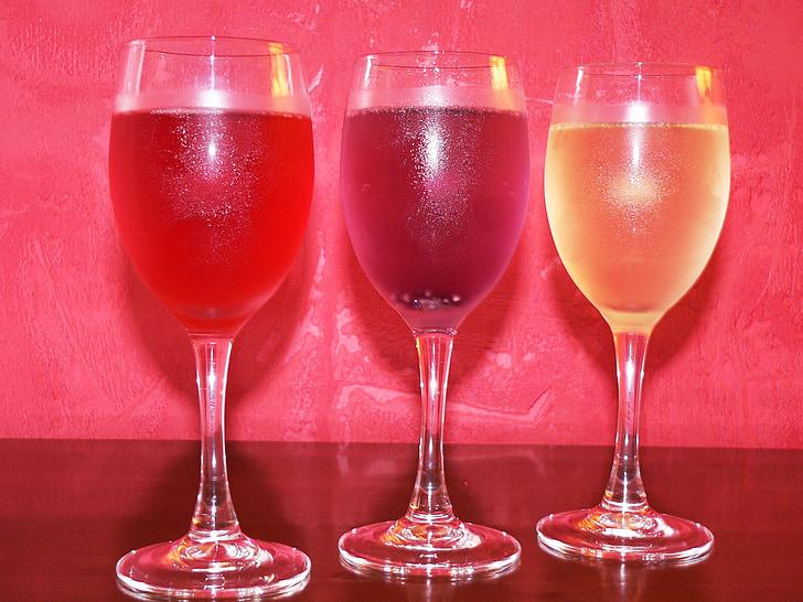 ulleres, beguda, alchoolisme, vi, beure, l'alcohol