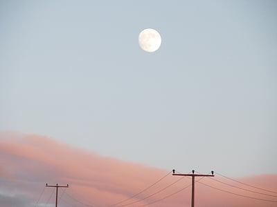 Lluna, cel, Afterglow, posta de sol, Moonrise, cel de nit, abendstimmung