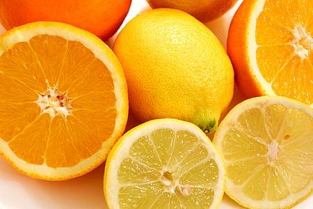 fruita, taronges, llimones, menjar, groc, taronja, Nutrició
