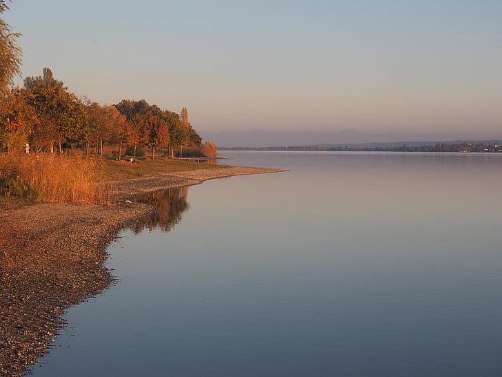 Боденське озеро, Захід сонця, abendstimmung, води, дзеркальне відображення, Осінь, відбиття