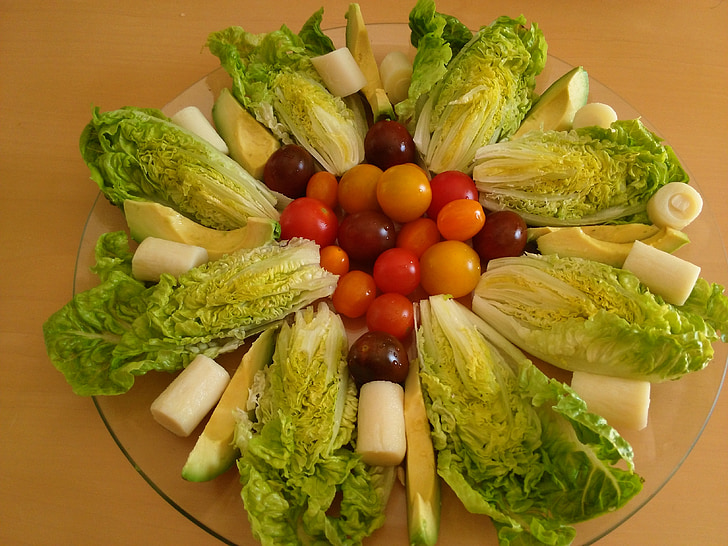 zdrav, salata, vegetarijanska, hrana