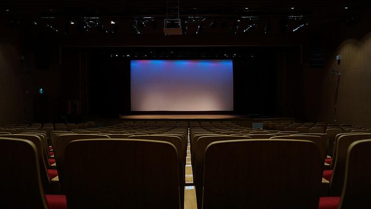 Театр, пассажирских мест, экран, кинотеатр, фильм, развлечения, Киноиндустрия