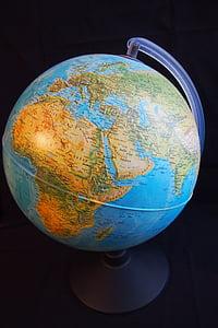 globus, hemisferi, Àfrica, món, mapa del món, globus - home objecte, planeta - espai
