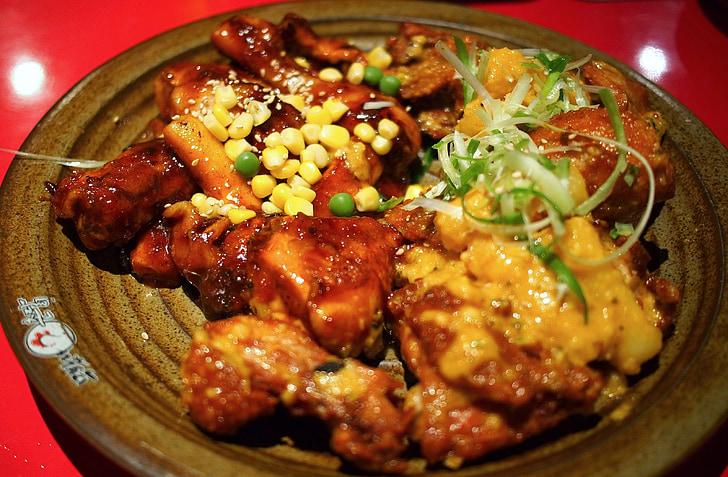 鸡, 朝鲜语, 一道菜, 食品, 南斯拉夫联盟共和国, 香辣, 炒菜