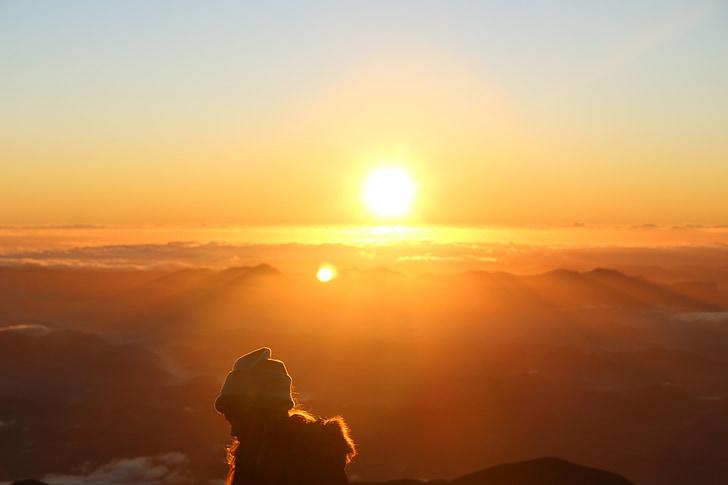 Sol, naturen, tacksamhet, amanhaecer, solstrålar, Eventide, solsken