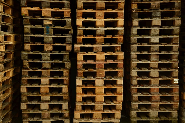 bakgrund, euro-pallar, lastpallar, trä, mönster, industrin, brun
