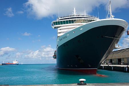 kryssningsfartyg, båt, fartyg, MS drottning victoria, Barbados