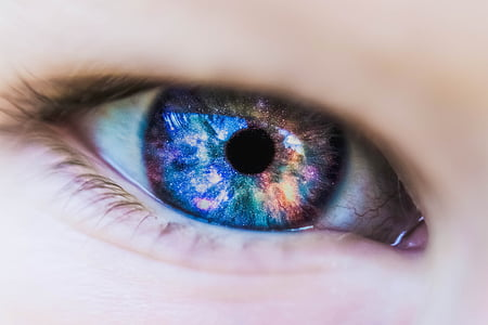 beautiful, close-up, color, colored, colorful, contact lens, eye
