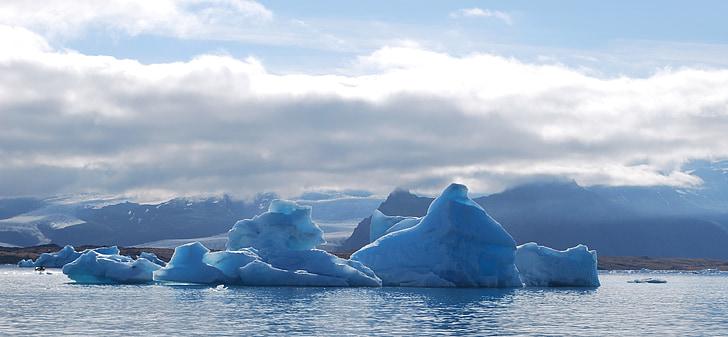 ijsberg, ijs, Jökullsarlon, IJsland, tsunami, ijsberg - ijsgang, Arctic