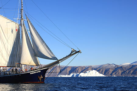 barca a vela, barca a vela, barca, nave, mare, Groenlandia, mezzo di trasporto marittimo