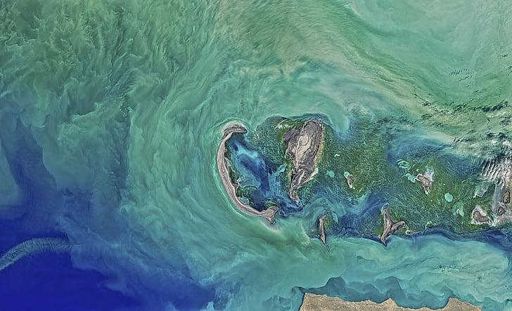 แคสเปียน, ทะเล, น้ำ, โอเชี่ยน, พื้นที่, โลก, สีฟ้า