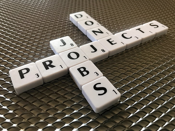 scrabble, projects, jobs, work, done