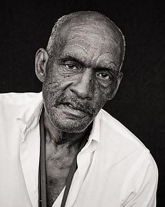 people, man, old, mature, black, senior, elderly