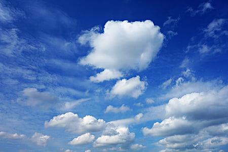 sky, blue, cloud, blue sky clouds, cumulus, atmosphere, air