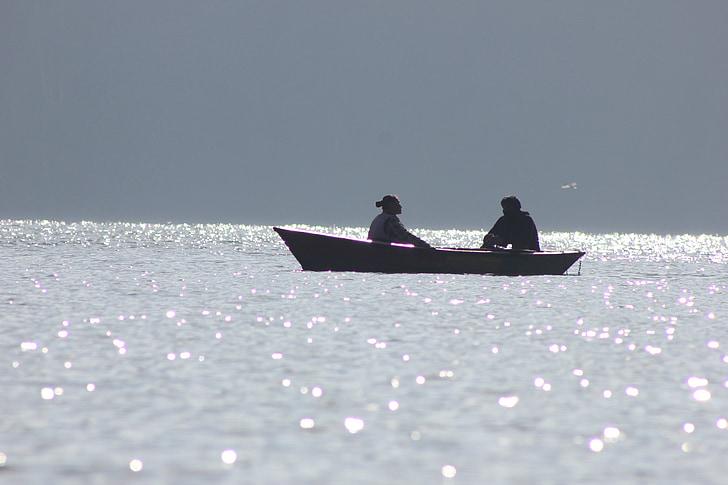 vaixell, Llac, natura, l'aire lliure, vacances, Estany, relaxar-se