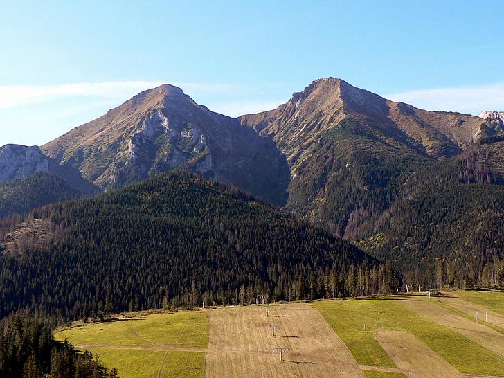 Eslováquia, Vysoké tatry, montanhas, natureza, estúpida, Ždiarska vidla, altos tatras