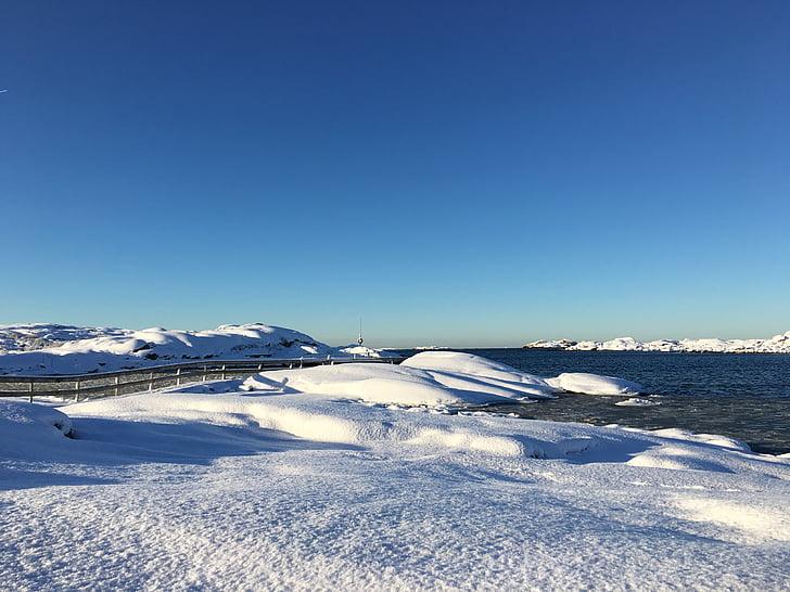 winter, snow, sea, cold, snow landscape, winter magic