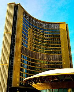 Toronto, l'Ajuntament, reflexió, arquitectura, punt de referència, edifici, disseny d'arquitectura