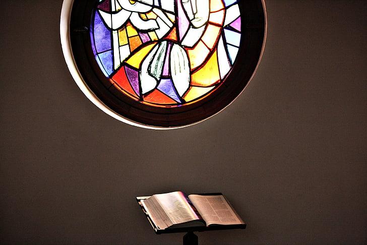 finestra de l'església, l'església, Bíblia, pregària, contemplatiu, vidrieres, finestra de vidre