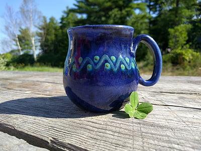 apila, onnekas, Four leaf, kesällä, kahvi, muki