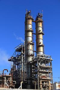 Hispaania, tööstus, seadmed, taim, tootmine, tehase, rafineerimistehase