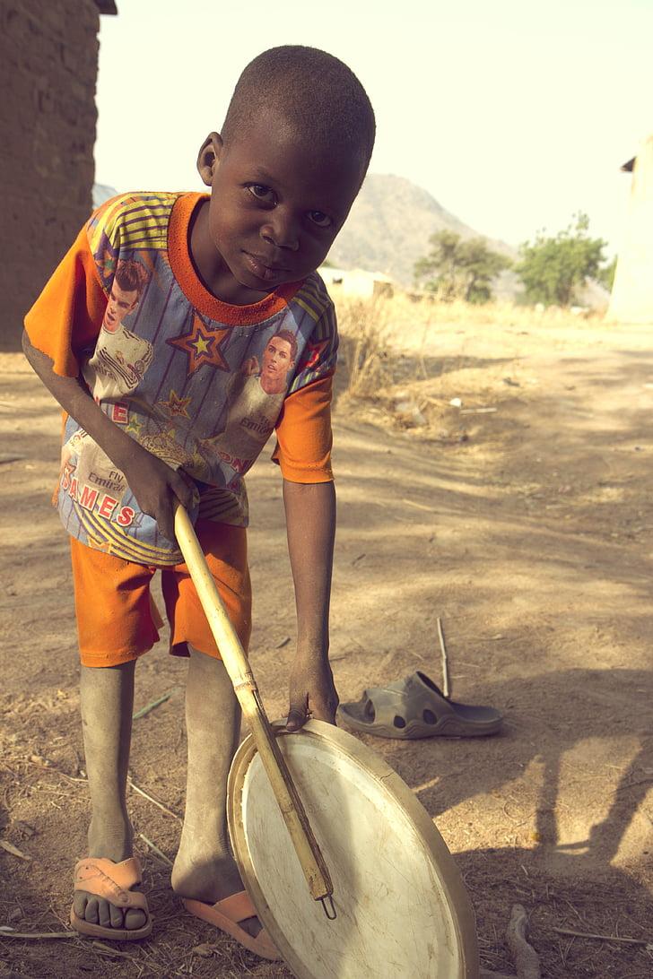 africa, child, nigeria, street, village, people, men
