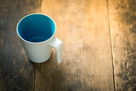 fons, begudes, blau, marró, cafeteria, cafè, tassa de cafè