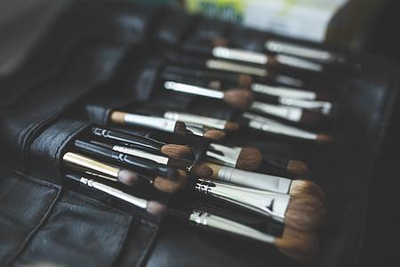 笔刷, 笔刷, 专业, 工具, 弥补, 化妆, 化妆