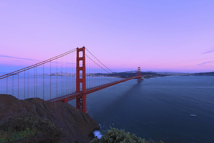 bridge, california, golden gate bridge, landmark, san francisco