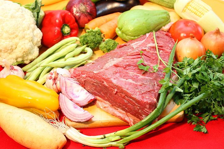 mäso, korenie, korenie, jedlá z grilu, chutné, Brasileira, kulinárske