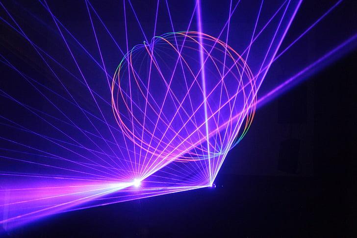 Laserová show, světlo, laserové, světelná show, barevné, světelný paprsek, Barva
