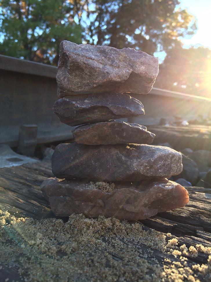 kraušanas akmeņi, akmeņi, atpūta, bilance, akmens, fiziska, rāms