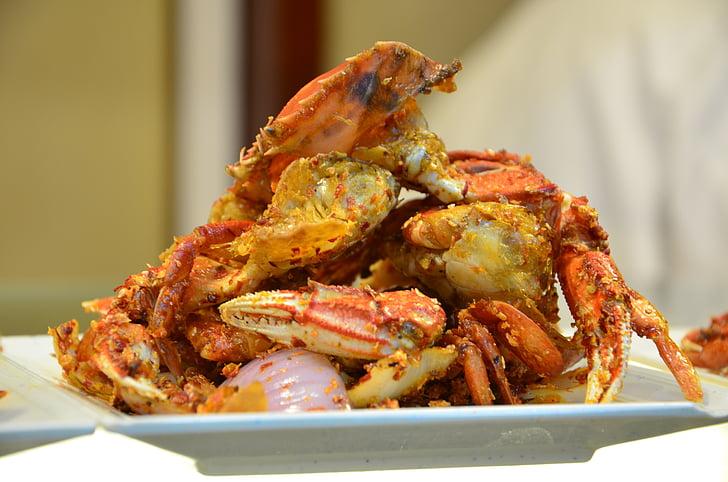 crab, food, gourmet