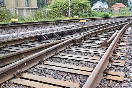 gleise, train, seemed, railway, railway station, small gauge railway, rail traffic