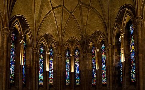 l'Abadia de, vidre, religió, arquitectura, l'església, edifici, finestra