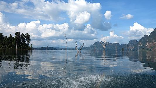 Llac, paisatge, blau, natura, l'aigua, cel, bell paisatge