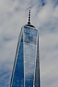 New york, dom tower, nhà chọc trời, đám mây, thành phố, Hoa Kỳ, tòa nhà kính