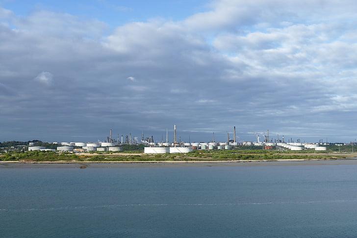 naftos perdirbimo gamyklos, naftos perdirbimo gamyklos, aliejus, pramonės, mineralinė alyva