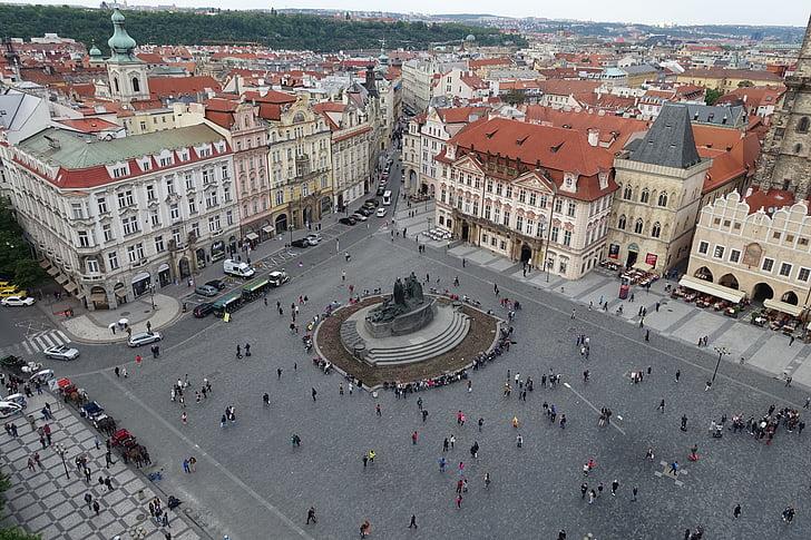 gājēju zona, telpa, Prague, Vecrīgā, pilsēta, pieminekļu