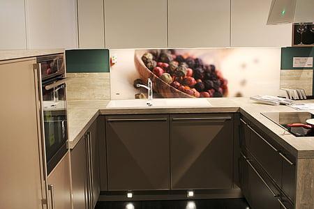 keuken, decoratie, keukenapparatuur, binnenlandse keuken, moderne, binnenshuis, interieur